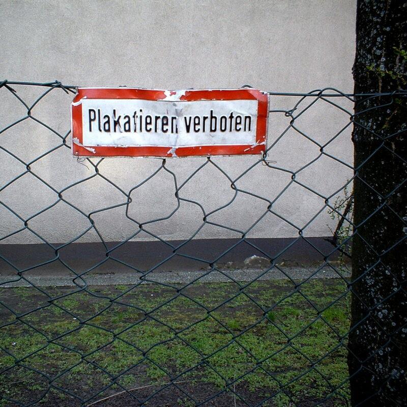 Verbotsschild (Nürnberg, Fürther Straße / Muggenhof)