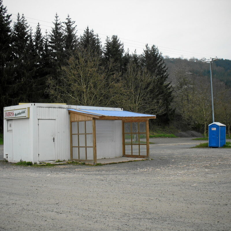 Verlassene Imbißbude, Nähe Meisenheim (Glan)