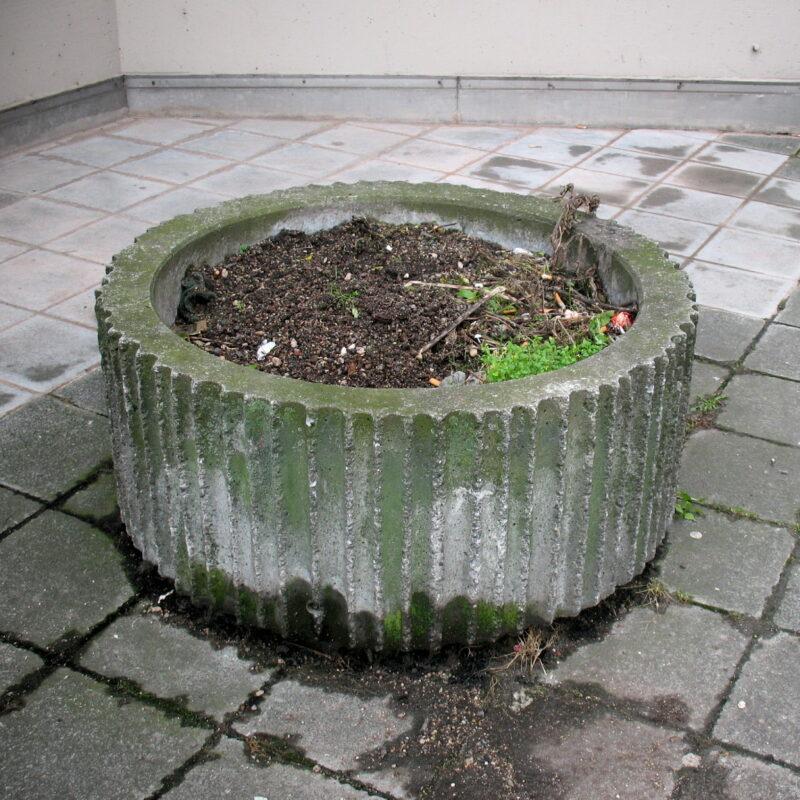 Beton-Pflanzkübel am Frauentorgraben zu Nürnberg