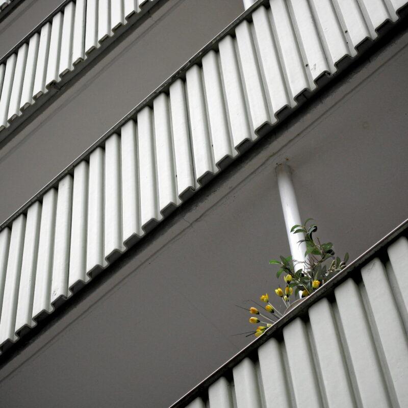 Private Balkonbebuntung (Nürnberg, Weintraubengasse)